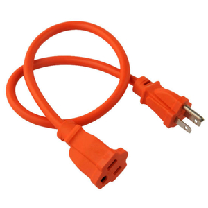 Us Outdoor Orange 3 Pin 13A 125V Power Extension Cord