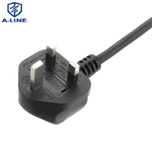 High Quality 3 Pin BS UK AC Power Cord Manufacturer