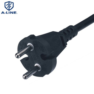China Factory VDE Approved European Type 2 Pins Round AC Power Cord