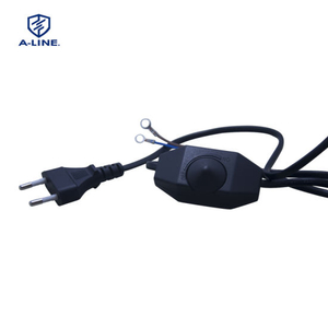 European Lamp Power Cord with Dimmer Switch