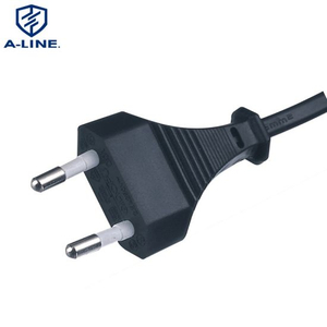 Professional Manufacture European Type 2 Pins AC Power Cord