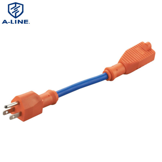 UL Approved Orange 16A 125V Power Extension Cord Factory