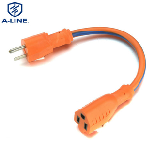 Us Heavy Duty Orange 3 Pin Power Extension Cord